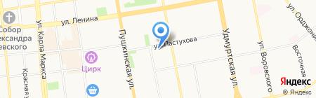 Элис-С на карте Ижевска