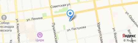 Школа-кроха на карте Ижевска
