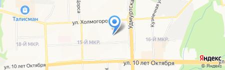 Гуманитарно-юридический лицей №86 на карте Ижевска