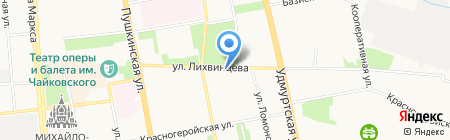 Бензобур на карте Ижевска