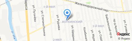 Русская банька на карте Ижевска