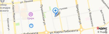 ДТВ и БАМ на карте Ижевска