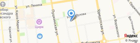 Ажур на карте Ижевска