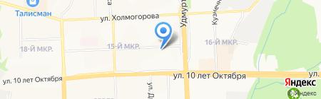 Ивановская марка на карте Ижевска