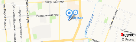 Автомойка на карте Ижевска
