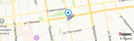 Флэш на карте Ижевска
