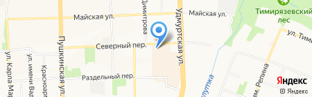Экобезопастность на карте Ижевска