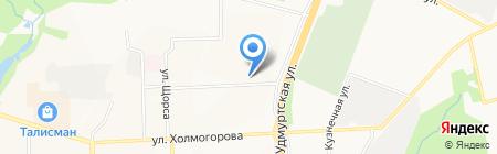 Долорес на карте Ижевска