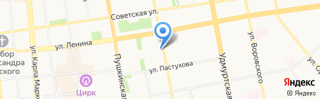 Автотрейдинг на карте Ижевска