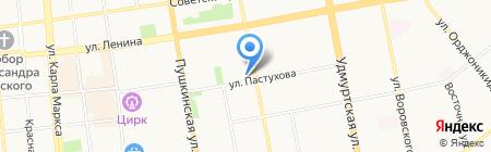 Универсальное бюро на карте Ижевска