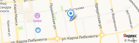 Ижевское Подшипниковое Агентство на карте Ижевска