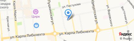 Детский сад №98 на карте Ижевска