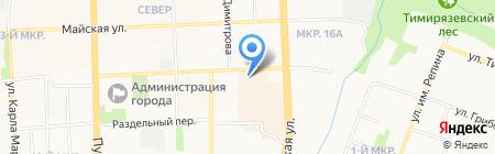 Ника-колор на карте Ижевска