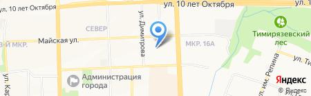 Ветеран-Березка на карте Ижевска