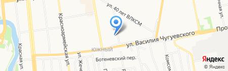 Клевер-тур на карте Ижевска