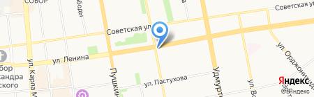 Родная Любава на карте Ижевска