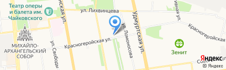 Банк ВТБ на карте Ижевска