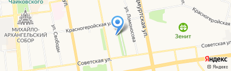 Ижкомдент на карте Ижевска