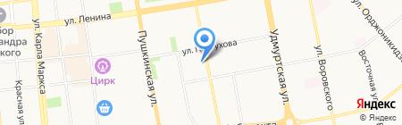 Огнелайт на карте Ижевска