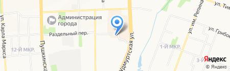 Хантер-Сервис на карте Ижевска