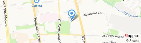Домостроительная компания на карте Ижевска
