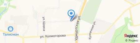 Магазин по продаже овощей и фруктов на карте Ижевска