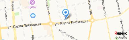 Цветочный салон на карте Ижевска