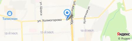 Индюшкин на карте Ижевска