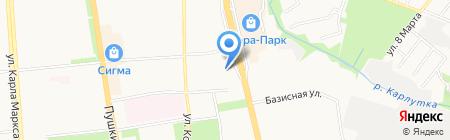 Воздушная нота на карте Ижевска