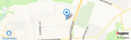 Южный на карте Ижевска