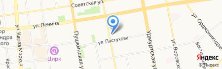 Saneta на карте Ижевска