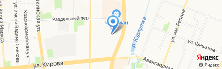 Флагманский на карте Ижевска