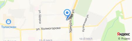 Леда на карте Ижевска