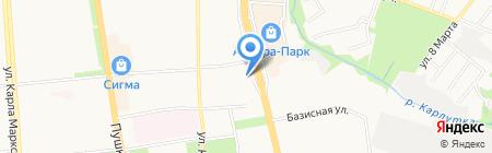 Банкомат Газпромбанк на карте Ижевска