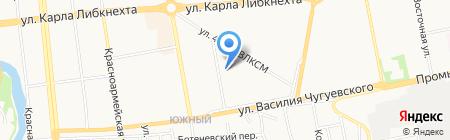 Динамо на карте Ижевска