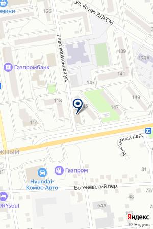 Лоскутный Воск на карте Ижевска