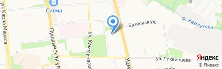 Торглайн на карте Ижевска