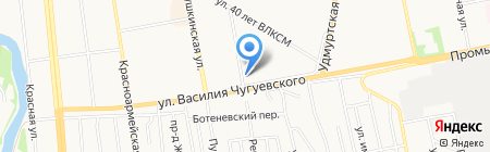 Уралавтотранс на карте Ижевска