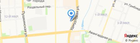 Свет на карте Ижевска
