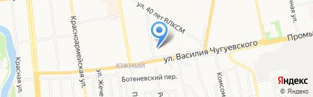 Ниада на карте Ижевска