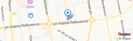 Астра на карте Ижевска