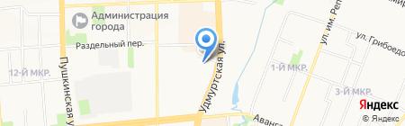 МВМ на карте Ижевска