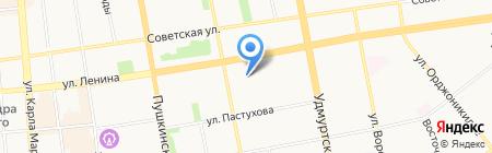 Пиком на карте Ижевска