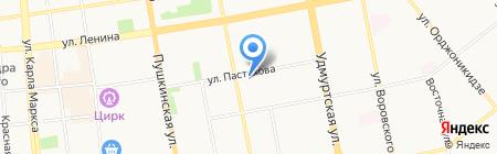 Детский сад №124 на карте Ижевска
