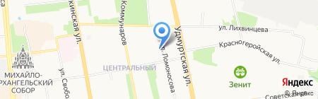 Три толстяка на карте Ижевска