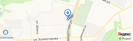 Райский сад на карте Ижевска
