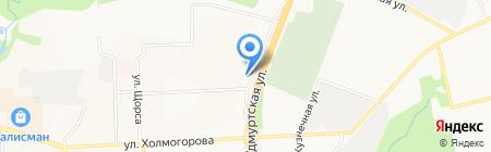 Малахит на карте Ижевска