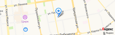 Средняя общеобразовательная школа №66 на карте Ижевска