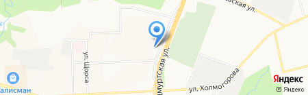Банкомат Бинбанк на карте Ижевска
