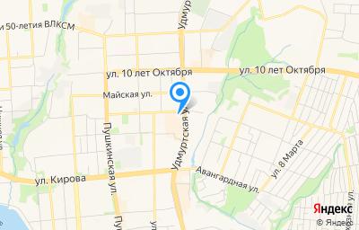 Местоположение на карте пункта техосмотра по адресу г Ижевск, ул Кирова, зд 172
